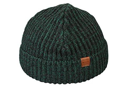 Bonnet Hiver pour Homme Urban Beanie bonnets tricoté slouch en darkgreen
