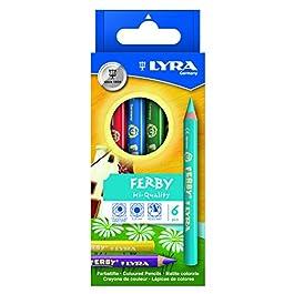 Lyra Ferby – Confezione in Cartone da 12 matite Colorate, Colori Assortiti