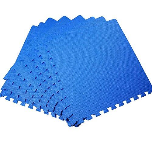 HOMCOM Pack de 2 Alfombras Puzle 2'88 m2 de 8 Piezas Cada Una para Niños de 3 Años Material Goma Espuma EVA Juego Gimnasia
