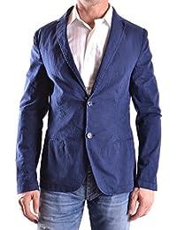 No Brand Herren MCBI086444O Blau Baumwolle Blazer