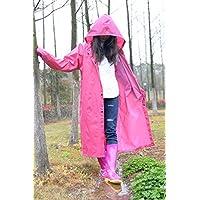 Poncho De Cuerpo Entero De Moda De Poliéster Impermeable De Fibra De Poliéster,Pink,XL