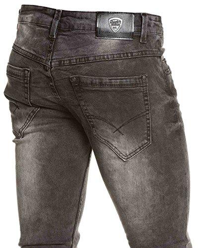 BLZ jeans - Jean schlank schwarz großen Auswaschung Mann Schwarz