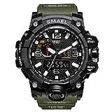 Herren Digitale Uhren, Sport Laufen wasserdichte militärische Armbanduhr Fashion Men LCD Digital Stoppuhr Herren-Military M Green-WCH1545-MMGR