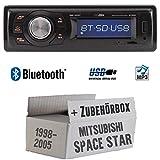 Mitsubishi Space Star - Autoradio Radio Caliber RMD020BT - Bluetooth | MP3 | USB | Einbauzubehör - Einbauset