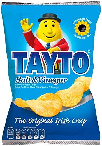 TAYTO SALT AND VINEGAR CRISPS 8 X 35g PACKS