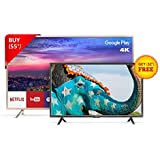 TCL 139.7 cm (55 inches) L55P2MUS Android M 4K UHD LED Smart TV (Gold) + FREE TCL 81.28 cm (32 inches) L32D2900 HD Ready LED TV