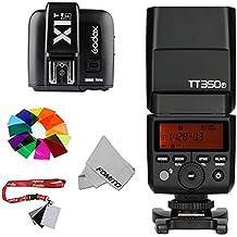 Fomito Godox tt350F TTL HSS 2.4G 1/8000s Flash luz Speedlite con x1t-f 2,4G inalámbrico disparador para Fujifilm X-Pro2x-t20x-t2X-T1X-Pro1X-T10X-E1x-a3x100F X100T Cámaras