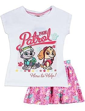 Paw Patrol Chicas Falda y camiseta - Blanco