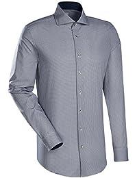 JACQUES BRITT Business Hemd Slim Fit Langarm Bügelleicht Businesshemd Hai-Kragen Manschette weitenverstellbar