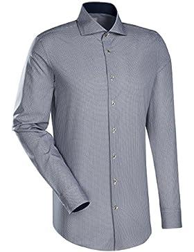JACQUES BRITT Business Hemd Slim Fit 1/1-Arm Bügelleicht City-Hemd Hai-Kragen Manschette weitenverstellbar