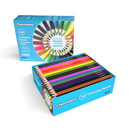 Klassenbox mit 144 Buntstiften, verschiedene Farben (Buntstifte In Bulk)