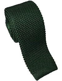 Dark Green Silk Knitted Tie