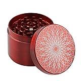 Nero Engshwn Premium in Lega di Zinco Lightning 4 Pezzi 2.5spezie Tabacco smerigliatrice Erba con Un raschiatore di polline