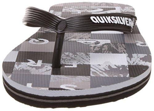 Quiksilver Molokai Check R M Sndl Xksw Herren Zehentrenner Grau - Gris (Black/Grey/White)