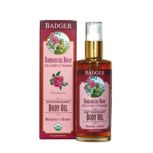 Antioxidant Body Oil, Damascus Rose, 4 fl oz (118 ml)