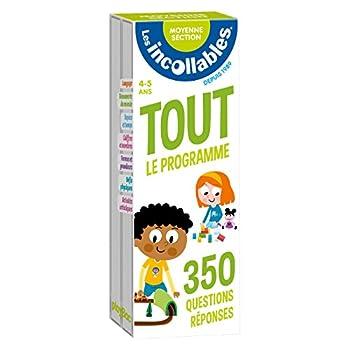 Les incollables - Tout le programme de la moyenne section - 4/5 ans: 350 questions réponses pour réviser en 2 éventails- Cahier de vacances