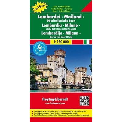 Lombardia. Milano 1:150.000: Toeristische Wegenkaart 1:150 000