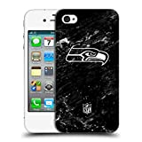 Official NFL Marble 2017/18 Seattle Seahawks Hard Back Case for Apple iPhone 4 / 4S