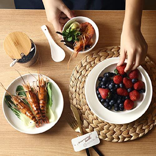 AAPP SHOP Koreanische Reine weiße eingefasste Platte Luft Platte hauptgericht Platte suppenteller Tiefe Gericht westlichen Pasta Pasta Teller Kimchi Platte PlatteLuftfahrt Platte (7 Zoll)