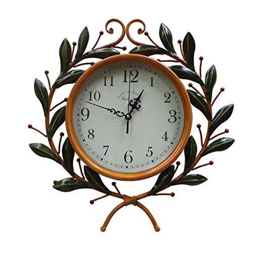 Dsrgwe Reloj Pared, Reloj Rústico Silencioso Rústico Europeo Elegante Reloj Creativo de...