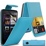 i-Tronixs (Baby Blue) Blackberry Z10 High Quality Faux Kredit/Debit-Karten-Slot Leder Flip Case Hülle & LCD-Display Schutzfolie by
