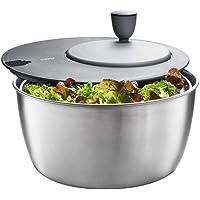 GEFU GF28180 Essoreuse à salade, Ø 25 cm - H 17,2 cm - 3 Liter, Argent