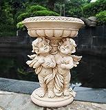 Figura da giardino 34cm alto Angelo 16030a Giardino Decorazione vaso vaso rigida