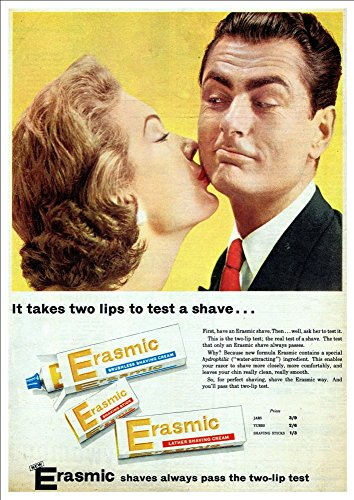 Wonderful A4 Glossy Print - 'Erasmic' - Retro Product Advertisement!