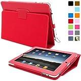 Snugg™ Étui Pour iPad 2 – Smart Cover Avec Support Pied Et Une Garantie à Vie (En Cuir Rouge) Pour Apple iPad 2