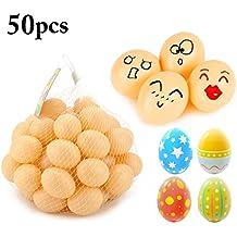 Huevo De Pascua, Funpa 50 Piezas De Pintura De Huevo De Pascua Huevos De PláStico