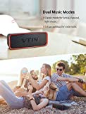 Portable Bluetooth Speaker, VTIN Exclusive Bass+ Bluetooth 4.2 Wireless Speaker with HD Powerful Sound, Long Battery Life, Dual Driver Travel Outdoor Bluetooth Speaker Support Built-in mic, AUX-IN Jack, Rechargeable Waterproof Stereo Speakers for Echo Dot, Radio, iPad, iPhone, Samsung, Gift Ideas