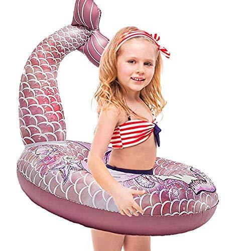 WISHTIME Baby Inflatables Schwimmbad Float Meerjungfrau Schwanz Aufblasbare Schwimmer für Pool 28 Zoll Sommer Party Beach Lounge Lilos für Kinder ...