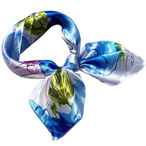 Yvelands Damen Printed Halstuch Mode Square Head Schal Wraps Schals(free,C)