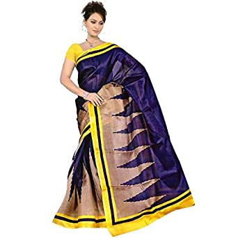 Navanya Couture Khadi Saree (Purple _Purple)