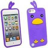 Kit Me Out FR Coque aspect velouté silicone pour Apple iPod Touch 5 / Touch 6 - violet motif poulet mignon