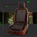 Republe Masaje Protección de la cintura universal cuentas de madera de seguridad del vehículo Cojín de ratón sólidas colchonetas en el asiento del color de automóviles
