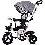 SSLC Tricycle Bébé 4 en 1 Pliant Enfant Trike Evolutif Velo Baby Poussette Canne...