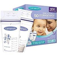 Lansinoh Lot de 50 sachets de conservation de lait maternel