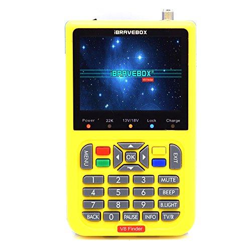 KKmoon Digital Satellite Finder mit 3,5-Zoll-LCD-Digitalanzeige,Gelb -