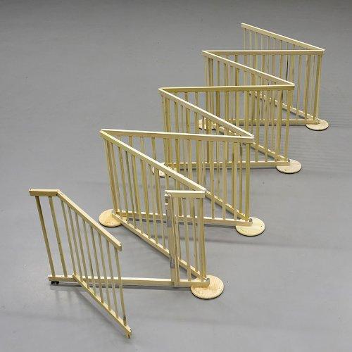 Flessibile cancelletto max 480-680cm, legno, 8 pannelli