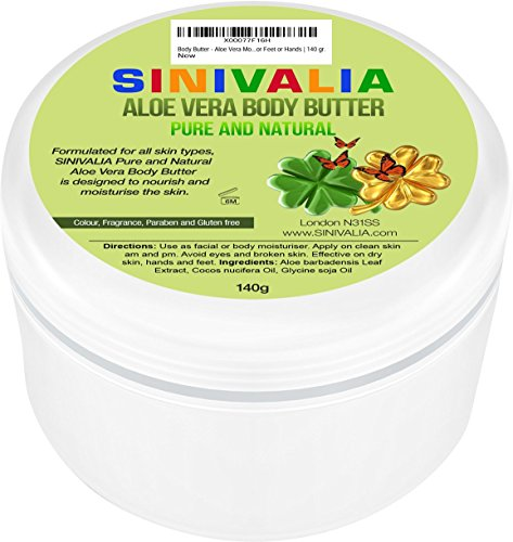 Aloe Vera Sun Cream (Body Butter - Best for Normal, Dry, Sensitive Skin - Aloe Vera Moisturiser Perfect after Sun Skin Care - Used as Anti-Ageing, Anti-Wrinkle Face, Hands Cream, Intense Hair Treatment - Great Vegan Gift)