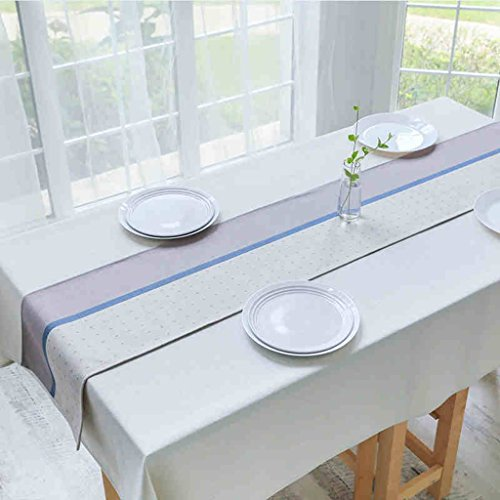 QiangZi Chemin De Table Couture Nordic Style Simple Coton Et Lin Rectangle Décoration Restaurant Nappe Napperon, 32 * 190CM ( Couleur : Stitching , taille : 32*160CM )