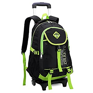 Cute Lovely Boys Girls Waterproof Nylon School Backpack Kids Travelling Bags Hiking Shoulder Bags Suitcases With Removable Wheeled Trolley Hand For Pupils Primary Students