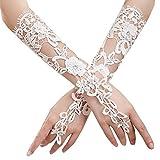 Lady formale Bankett Party Braut durchbohrte Spitze Hochzeit Handschuhe Geschenk