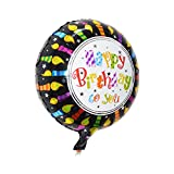 #8: INFInxt Happy Birthday to you Round Foil Balloon (Candle)