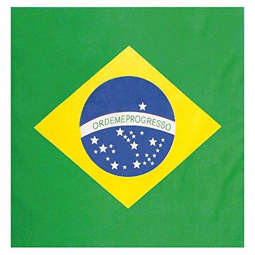 a Kopftuch Brasilien, Mehrfarbig, Einheitsgröße (Land Motto Party Kostüm Ideen)