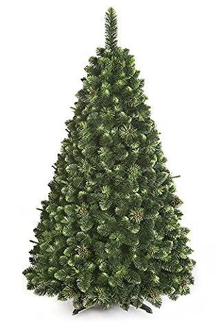 Sapin de Noël Arbre artificiel Deluxe Fabrication de qualité supérieure Olive de pin avec cristaux - 180cm - OLIVE PINE