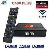VIGICA C400 Plus DVB T2 S2 Satellite Receiver Android 7.1 Smart TV BOX S912 Octa Core 3 Ram 32 Rom Mini PC Dual Band 2.4G/5g Wifi 4K
