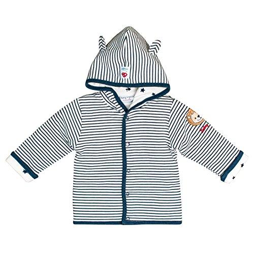 SALT AND PEPPER SALT AND PEPPER Baby-Jungen Jacke BG Jacket Stripe Löwe OCS Blau (Indigo Blue Melange 461) 56