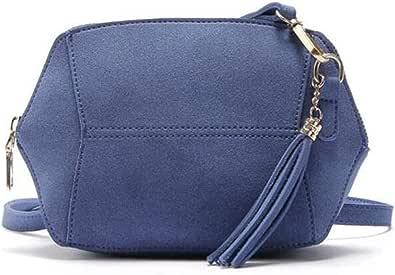 Damen Crossbody Tasche Damen Schultertaschen Klein Wildleder Leder Handtasche Frauen Messenger Bags Quaste Clutch Geldbörse für Frauen